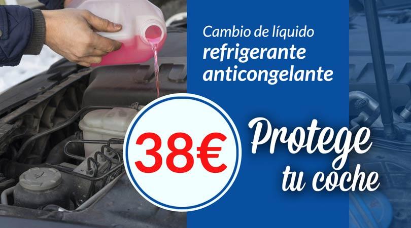 oferta cambio liquido refrigerante